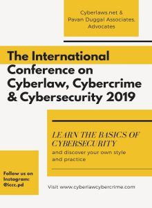 The International Conference on Cyberlaw, Cybercrime & Cybersecurity 2019